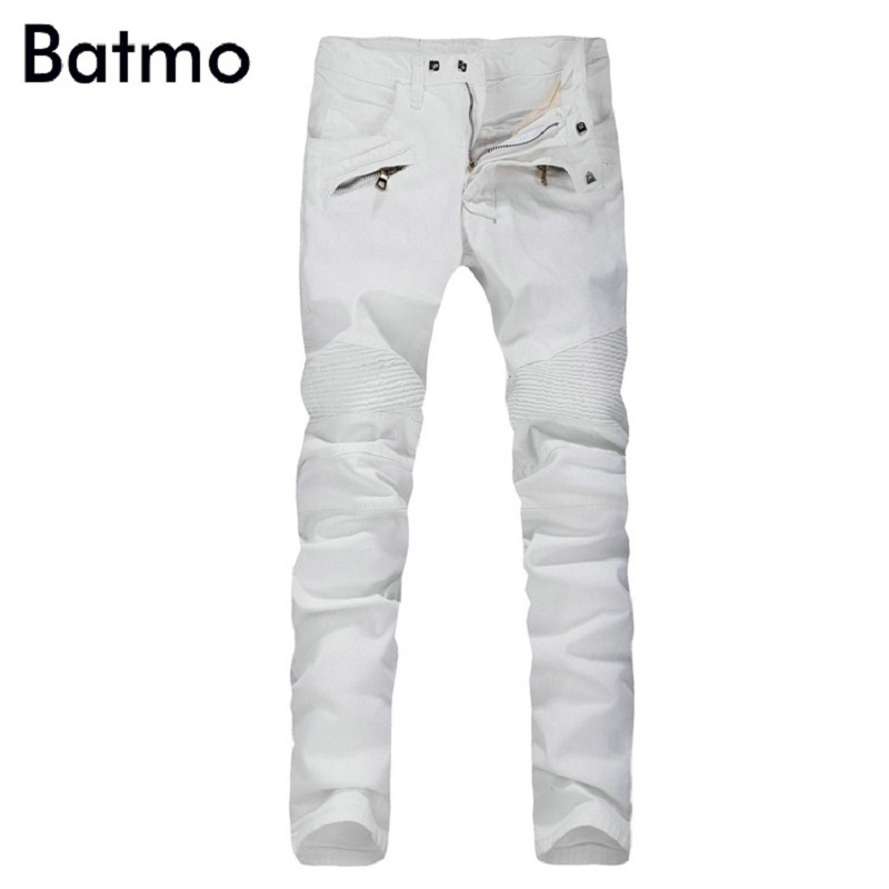 2017 New Men Nightclubs white Jeans, Fashion Designer Denim Jeans Men,plus-size 28-40, casual jeans sulee brand 2017 new fashion business men jeans cotton denim jeans casual straight washed pants stretch jeans plus size 28 40