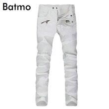 2017 New Men Nightclubs white Jeans, Fashion Designer Denim Jeans Men,plus-size 28-40, casual jeans