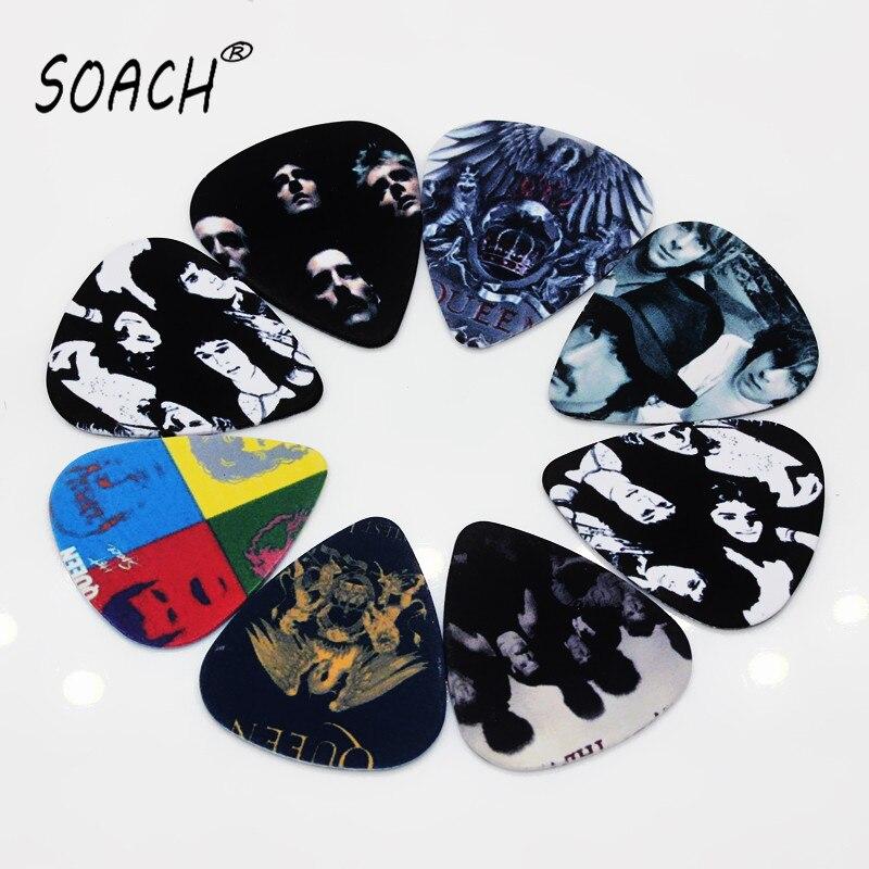 SOACH 10 шт. 0,71 мм гитарные аксессуары, высококачественные Двухсторонние серьги, сделай сам, дизайн, рок-группа, выбор гитарных кирок