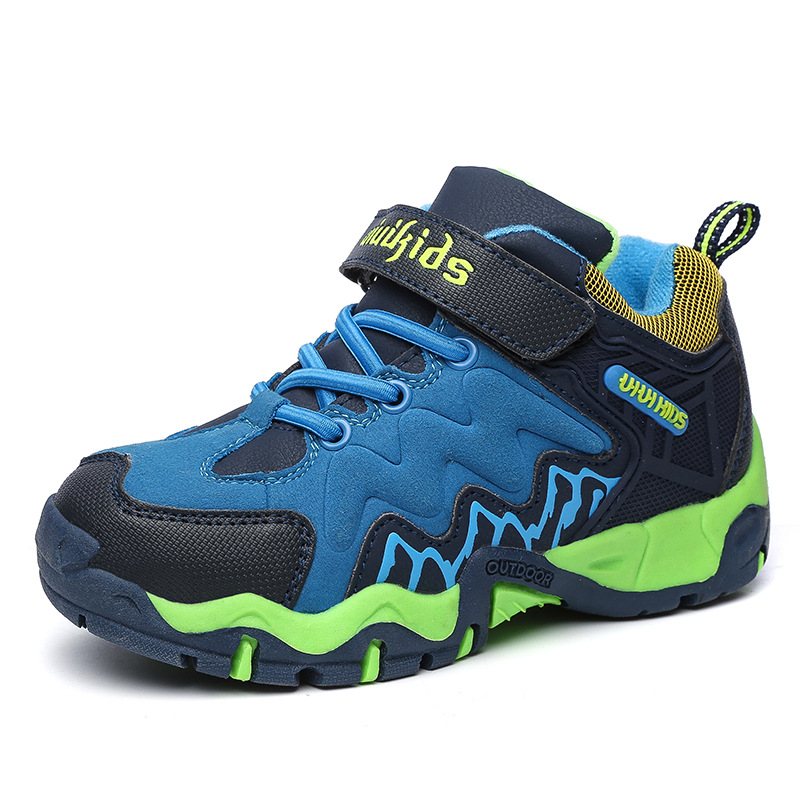 HOBIBEAR Running Kids Sneakers For Children Casual Shoes Boys Hiking Shoes Girls Sport Shoes Leather Anti-Slippery Cotton Fabric 2016 new shoes for children breathable children boy shoes casual running kids sneakers mesh boys sport shoes kids sneakers