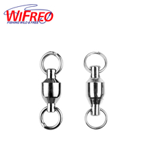 50pcs Strong Ball Bearing Swivels with Sold Rings / Split Ring Saltwater Fishing Connector Size 1 2 3 4 5 6 7 8 9 10 [ZH0002]
