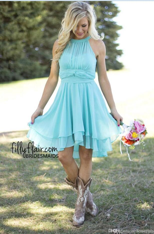 Coral Beach Wedding Dresses Short – fashion dresses