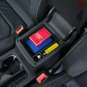 Аксессуары для VW Tiguan Mk2 MK 2 2016 2017 2018 подлокотник центральный ящик для хранения Контейнер перчатка Органайзер коробка запчасти