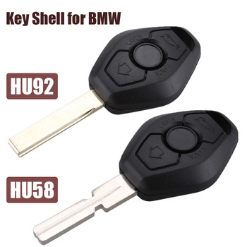 3 Buttons Remote Car Key Shell Fob for BMW 3 5 7 SERIES Z3 Z4 X3 X5 M5 325i E38 E39 E46 HU58/HU92 Blade Remote Key Case Fob image