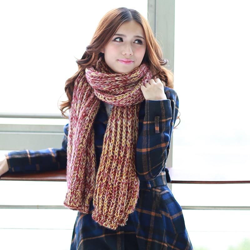 tienda online nueva caliente venta alargar de dos colores bufanda para mujer otoo e invierno que espesan bufandas muffler para mujeres de regalo