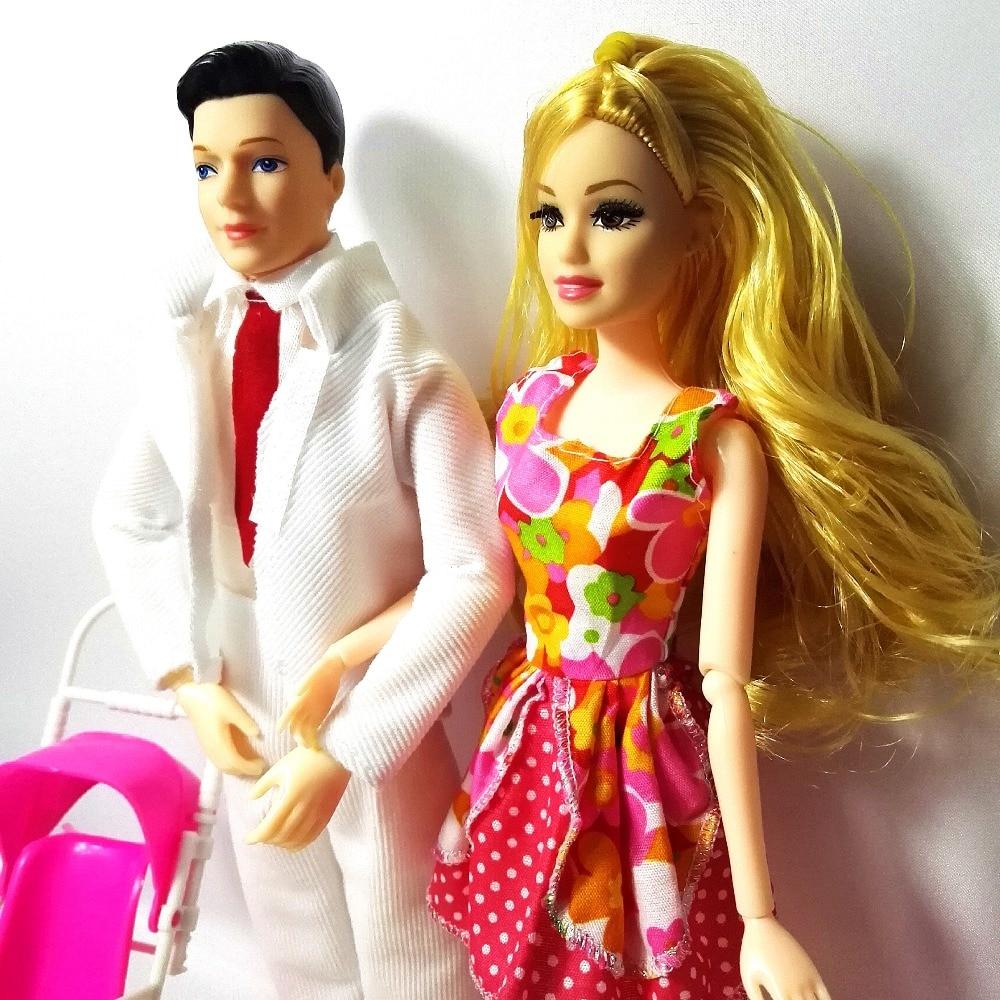 Jouets Famille Mode 4 personnes poupées costumes 1 maman / 1 papa / - Poupées et accessoires - Photo 6