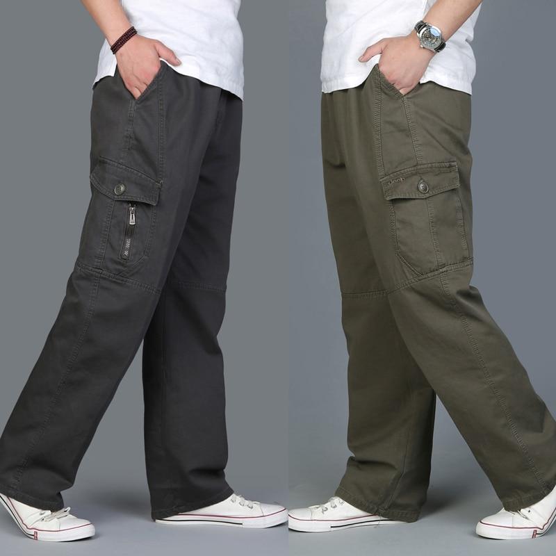 Men Harem Tactica Pants Brand 2017 Casual Sagging Cotton Pants Men Trousers Plus Size Sporting Pant Mens Joggers Feet PantsL-6XL