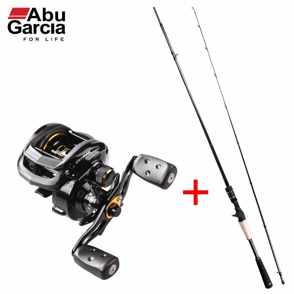 Original Abu Garcia Pro Max Combo PMAXC722M Baitcasting Fishing Rod + PMAX3 Baitcasting Fishing <font><b>Reel</b></font> Right/Left Baitcast Combos