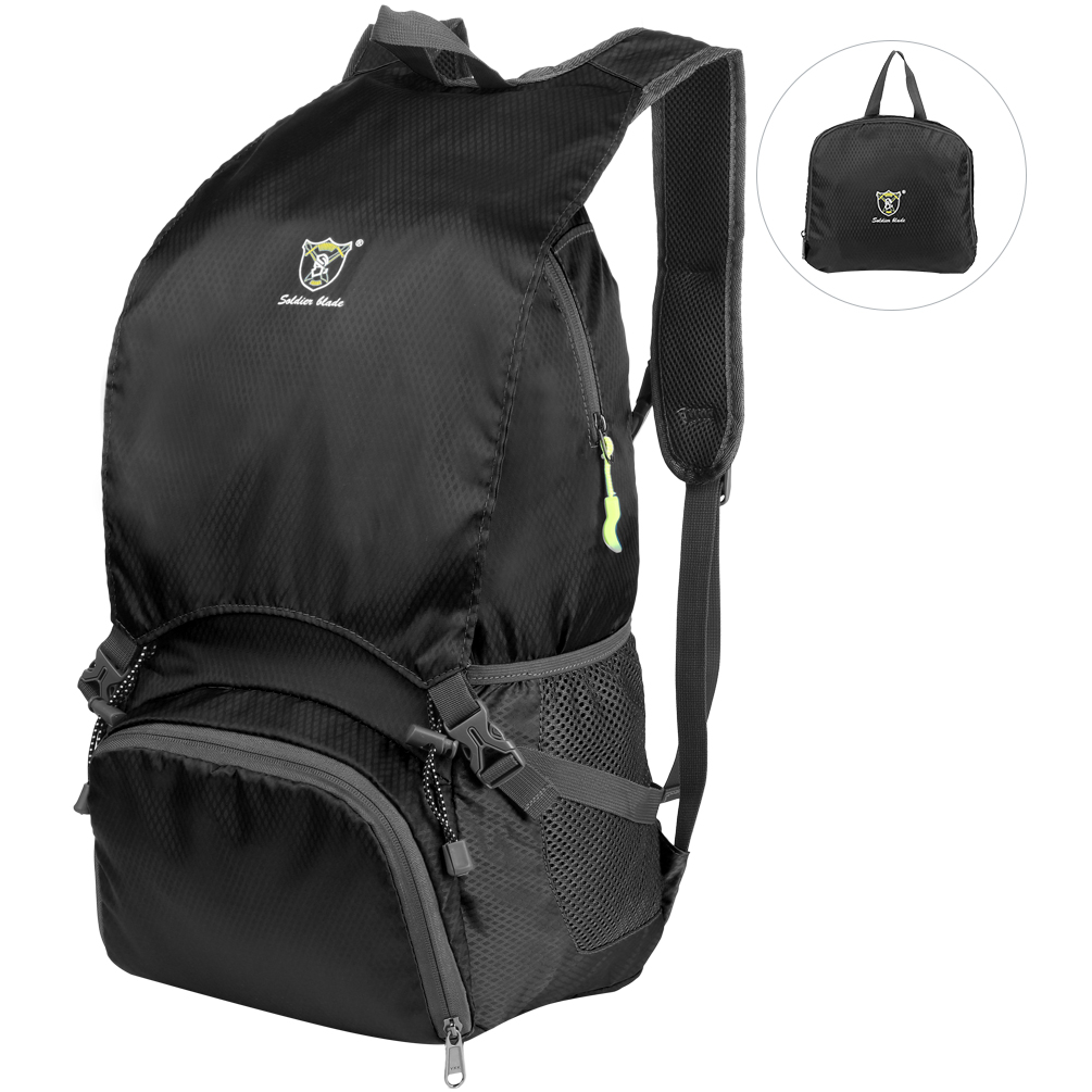 Vbiger Unisex 20L Backpack Foldable Bag Casual Daypack Large-capacity Trekking Backpacks Lightweight Travel Bag