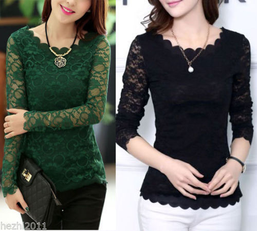 Popular Lace Blouse Uk-Buy Cheap Lace Blouse Uk lots from China ...
