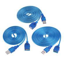 1,5 m 3m USB Verlängerung Kabel USB 2,0 Aktive Repeater EIN Mann zu EINEM Weiblichen USB 2,0 AF BIN Draht Kabel Linie für Laptop PC