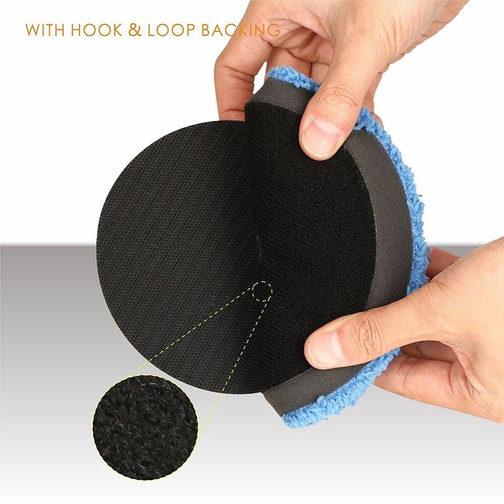 almofadas buffer almofada polimento kits micro fibra para ro 03