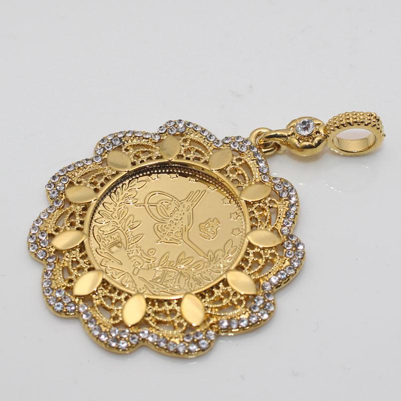 ZKD Turkey Coins islam muslim Ottoman coins Pendant Necklace