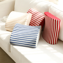 Urijk 34x32x10cm Striped Memory Foam Chair Back Pillow Cushion Car Seat Cushion Lumbar Support For Home Bedroom Office