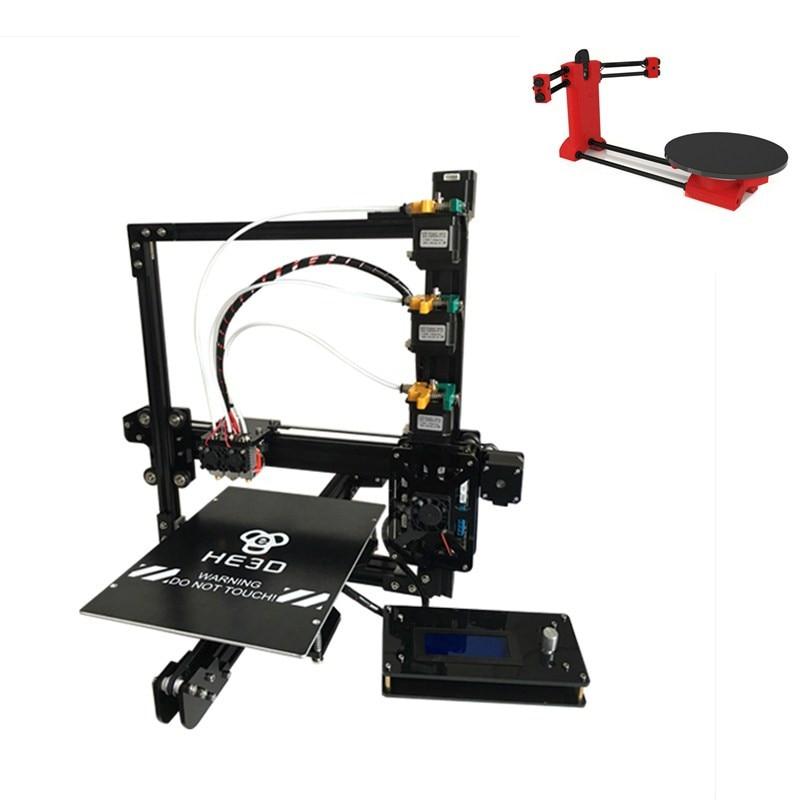Set Sale,NEWest HE3D EI3 Tricolor 3D Printer Diy Kit