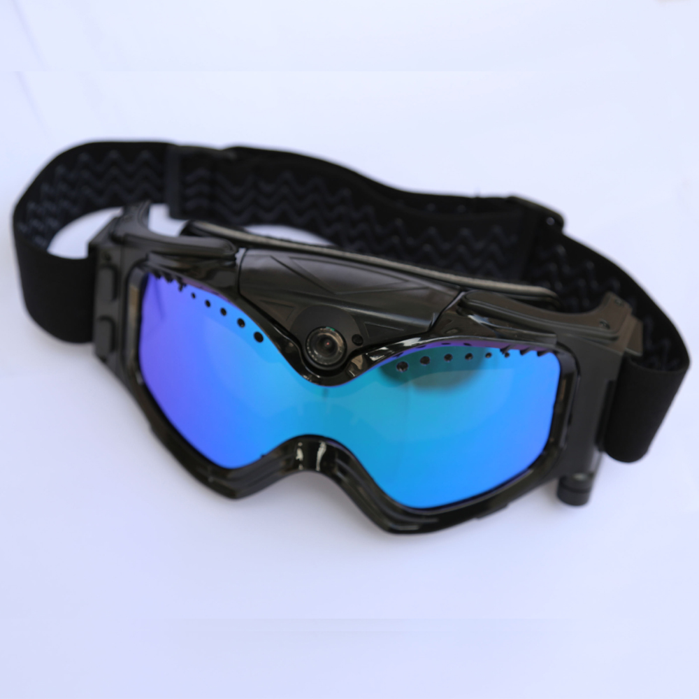 HD 720P Camera with Ski-Sunglass Goggles with Colorful Anti-Fog Lens for Ski / Transparent Lens for Moto Free Shipping gold frame colorful lens round sunglass