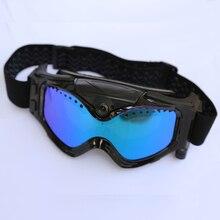 HD 720 P Câmera com Ski-Óculos De Sol Óculos Coloridos com Lente Anti-Fog de Esqui/Lente Transparente para Moto Frete Grátis