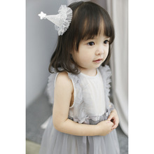 2019 New summer baby Dress Korean pure cotton lace Flower Print Princess Baby gauze dress