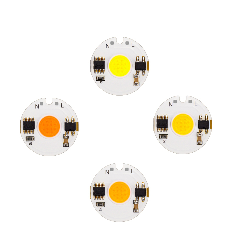 10pcs/lot LED 220V COB Bead 12W 9W 7W 5W 3W Smart IC Light Chip Day Cold Warm White Grow For LED Floodlight Spotlight Lamp DIY