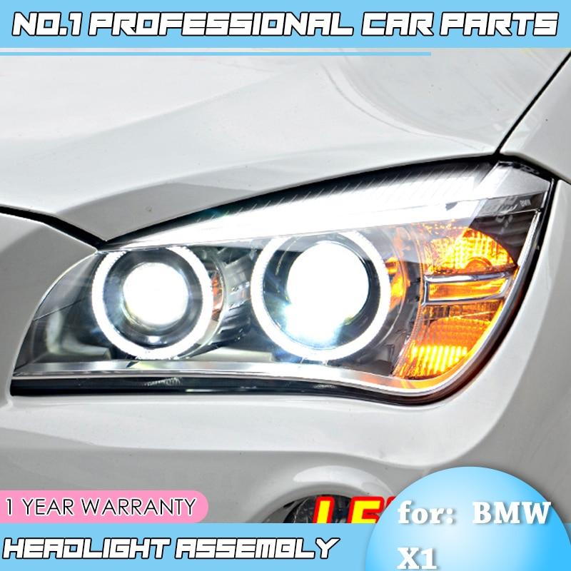 BiNFU Style De Voiture pour BMW E84 X1 led phares 2009 2010 2011 2012 2013 2014 E84 led drl KIT CACHÉ Bi Xénon Lentille faisceau bas