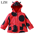 Girl Raincoat Coat 2016 Spring Autumn Children Clothing Kids Jacket Children Windproof Outerwear Baby Boy Dinosaur Cardigan Coat