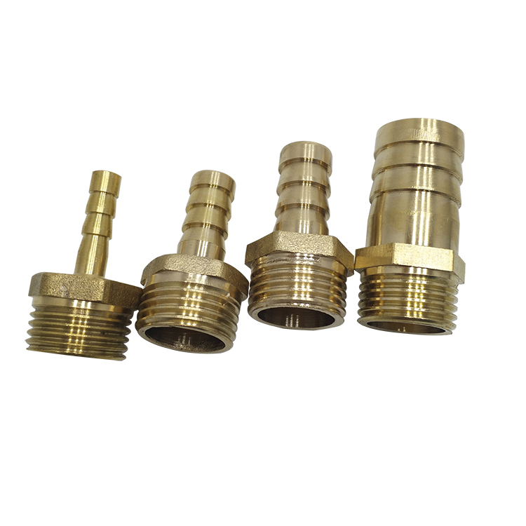 Brass Pipe Fitting 4mm 6mm 8mm 10mm 12mm 19mm Air Tube Hose Barbed Tail 1/8