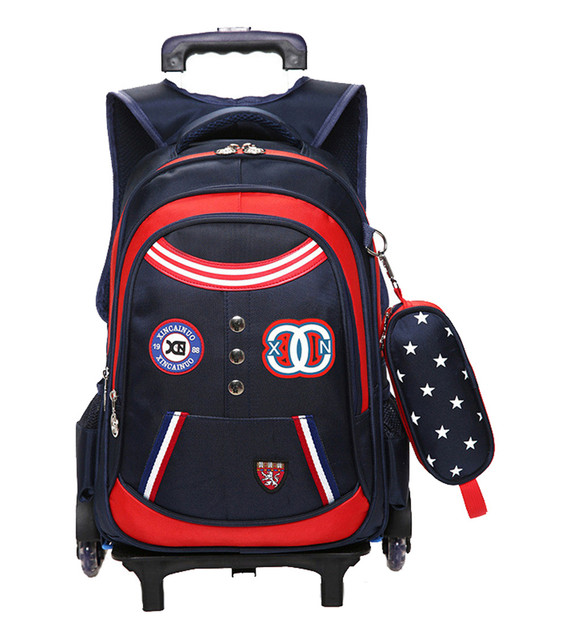 b36e19091526 Removable Children School Bags boys girls 3 Wheels bags Kids Trolley school  backpacks Schoolbag Luggage Book Bag Backpack kids. Price
