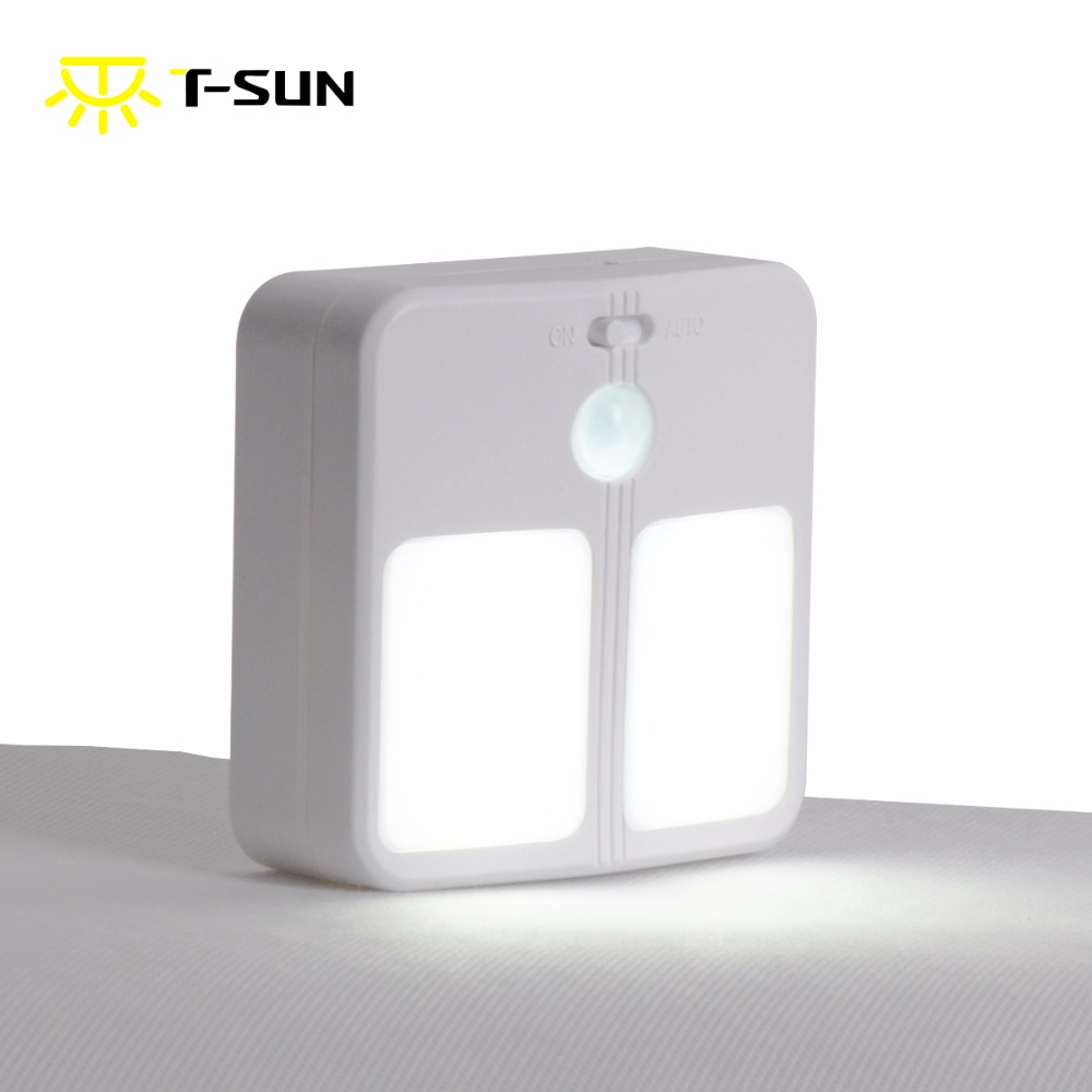 T-SUNRISE LED Night Light With Motion Sensor Wireless Wall Lamp night lamp Battery-powered Lighting illumination for toilet seat illumination sensor light sensor illumination ball bh1750fvi sending routine