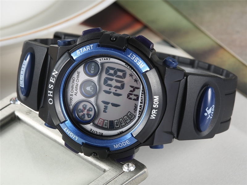 OHSEN Fashion Children Sports Watches Waterproof 5ATM Kids LED Digital Watch Student Outdoor Hand Electronic Clock Montre Femme (36)