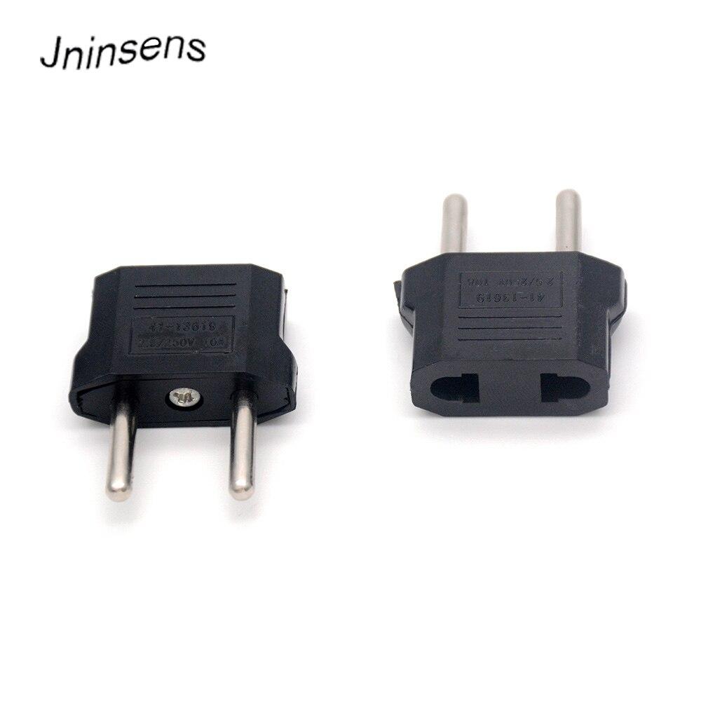 2018 New Black Universal AU EU US To EU Euro Europe AC Power Plug Converter Adapter Travel Electrical Power Converter Adaptor