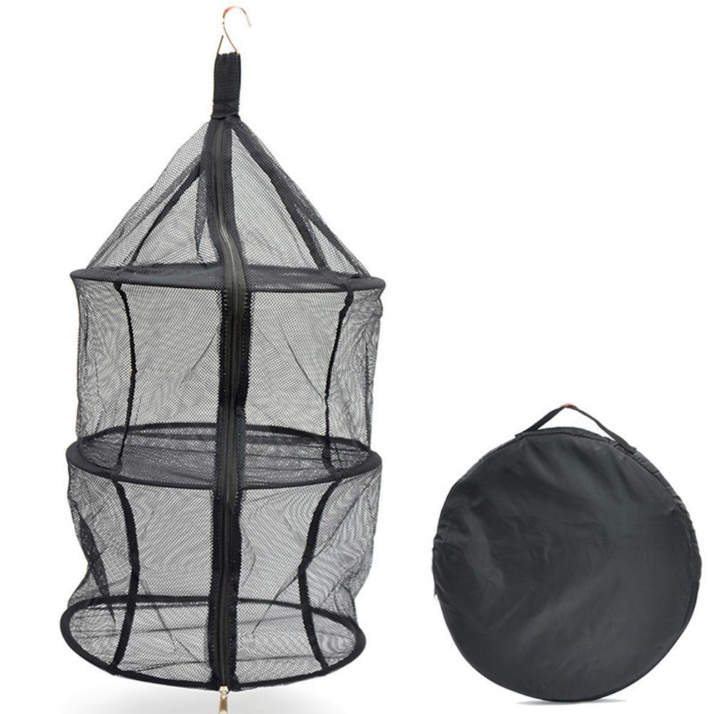 4 Levels Hanging Drying Shelf Rack Dishes Herb Mesh Folding Dryer Net Outdoor