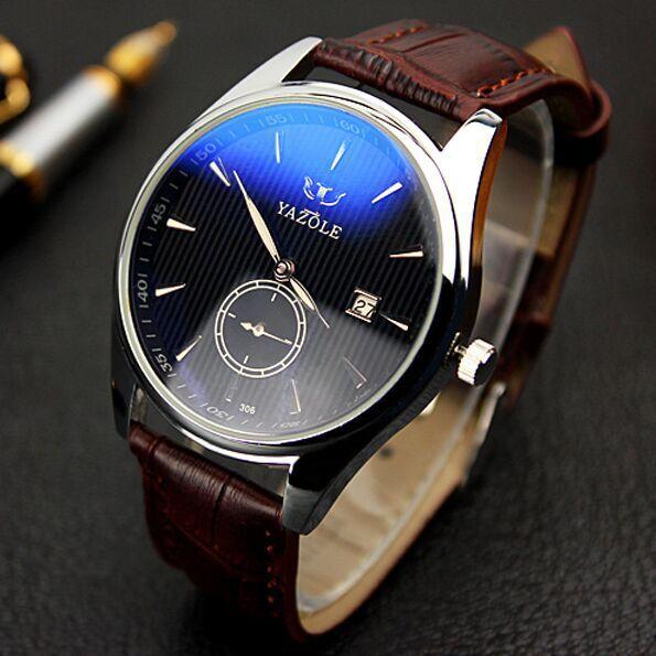 e501d474c5c3 Caliente reloj de hombre reloj hombre mejores hombres de lujo marca moda  reloj de cuarzo correa de cuero relojes hombres reloj deportivo relogio  masculino ...