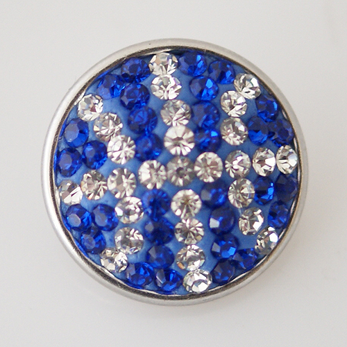 Changeable 18mm snaps with copper bottom and rhinestones fit ginger snaps jewelry KB2419