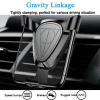 Universal Electromagnetic Induction Wireless Car Charger Bracket Qi Fast Charging Phone Holder for IPhone XS Samsung S10+