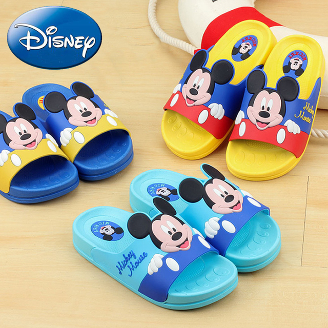 5491c83ca25c 2018 New Disney Mickey Slippers Children Casual Shoes Kid Flip Flop Cartoon  Boys Girls Summer Non-slip Garden Beach Minnie Shoes