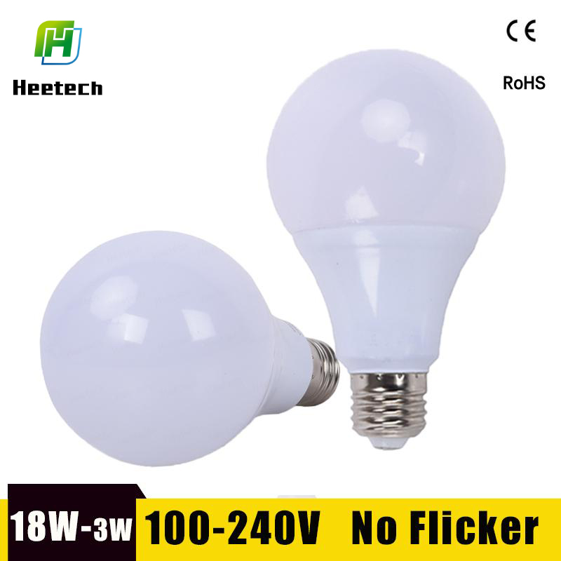 LED Bulb E27 LED Lamp 18W 15W 12W 9W 7W 5W 3W Lampara Led Bombillas 220V 110V For Indoor Lighting Cold/Warm White Led Light Lamp(China)