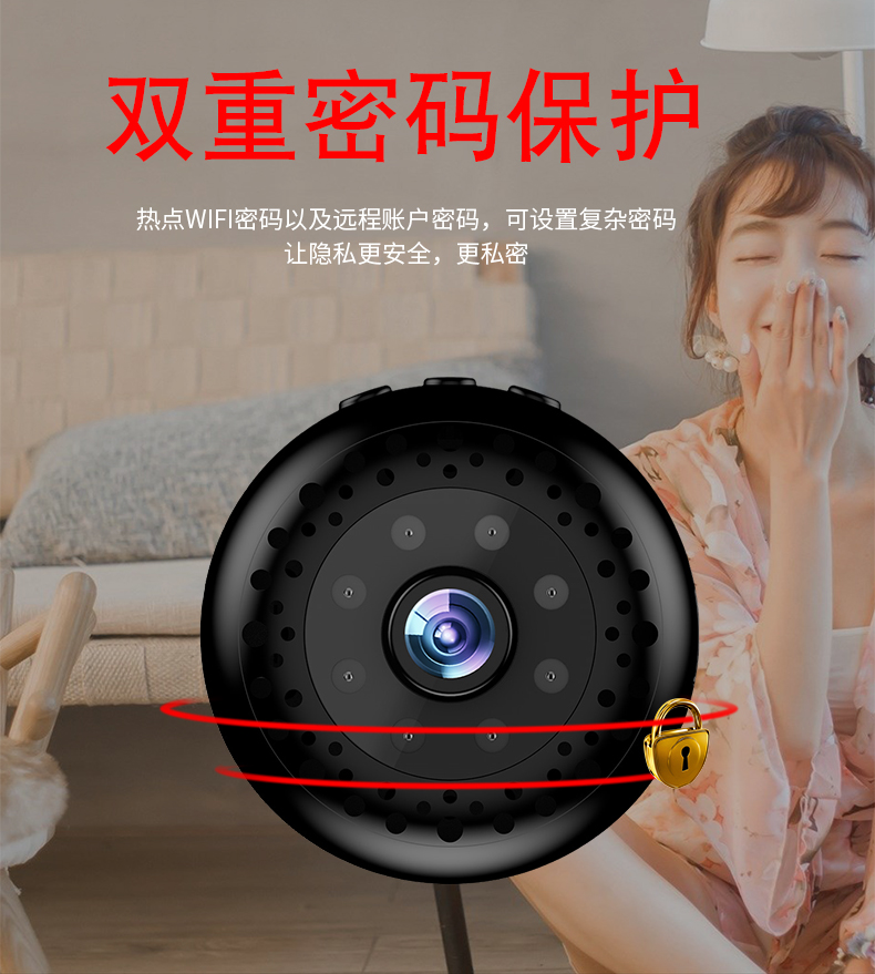 Пульт дистанционного управления видеозаписывающая камера очень маленькая легко скрываемая Камера Двойная защита паролем Мини Wifi видеокамера