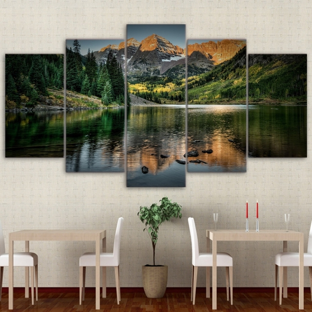 Modular Pictures Home Wall Frame Modern Poster HD Printed 5 Pieces ...