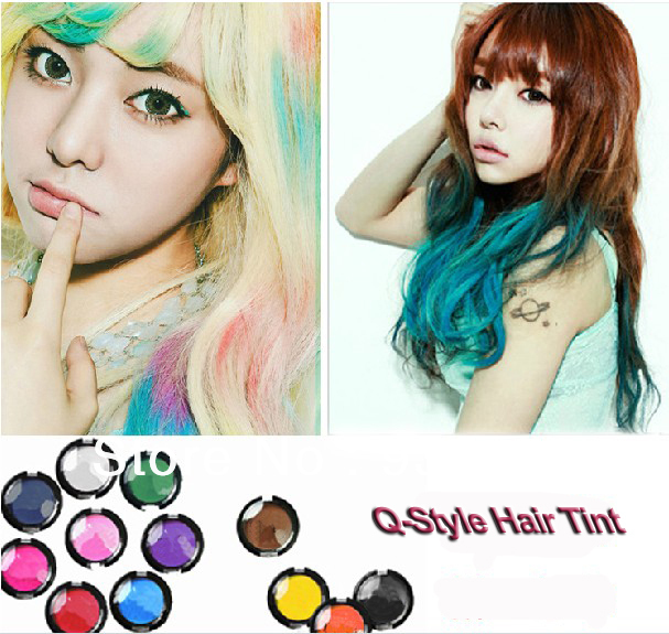 Q-Style Free Shipping New 2013 Gradient Tint Hair Dye Loose Powder Hair Coloring Agent Hair Dye Powder or Hair Tint