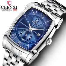 CHENXI Watches Men's Quartz Military Stainless Steel Wristwatch Men Top Brand Fashion Chronograph Male Waterproof Business Watch natate women chenxi brand business clock fashion watch full stainless steel quartz watches wristwatch lady casual watches 1140