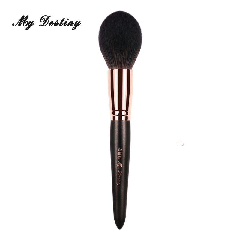 MY DESTINY Goat Hair Cone Powder Brush Makeup Brushes Make Up Brush Pincel Maquiagem Pinceis Brochas Maquillaje Kwasten 002 my destiny large ombre color powder brush professional make up makeup brushes pincel pinceis maquiagem maquillaje pinceaux p01