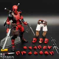 Marvel X Men Deadpool Figure Figma Deadpool Many Choice With Weapon PVC Action Figure Collectible Model Kids Toys Doll 16cm