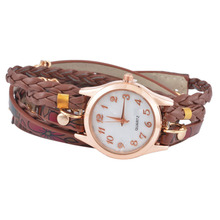 Boho Bohemian Ethnic Watches  Multi-layer Weave Leather Bracelet Watch