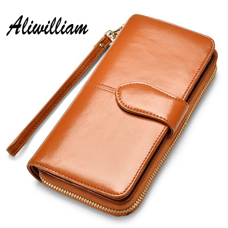 Split Leather Long Clutch Wallets Women Famous Brands Ladies Coin Purse Wallet Female Card Holders Carteira Feminina For Women 2017 new brand pu leather women long wallets solid clutch coin purse dollar price card holders vintage carteira feminina a1656
