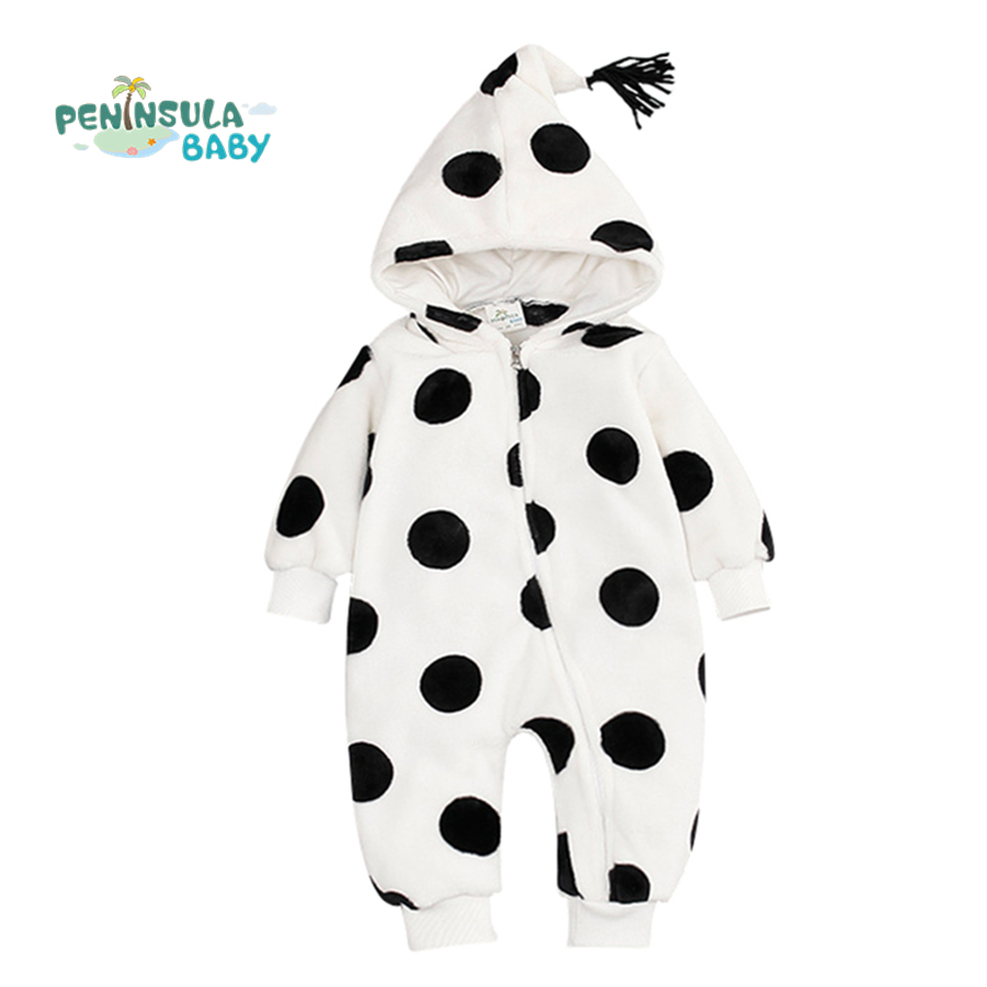 Baby Clothes Winter Thick Warm Rompers Newborn Clothes Coral Velvet Jumpsuits Toddler Boys Girls Costumes For kids 2017 baby jumpsuits winter overalls deer kinitted rompers climbing clothes sets for newborn boys girls costumes hooded sweater