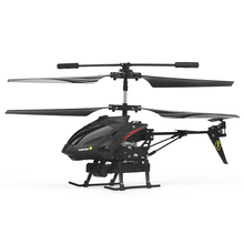 3.5CH RC Helicopter with 3MP Camera Copter  Remote Control Drone Model Super Gyro Shock Proof Helicopter Toys Black