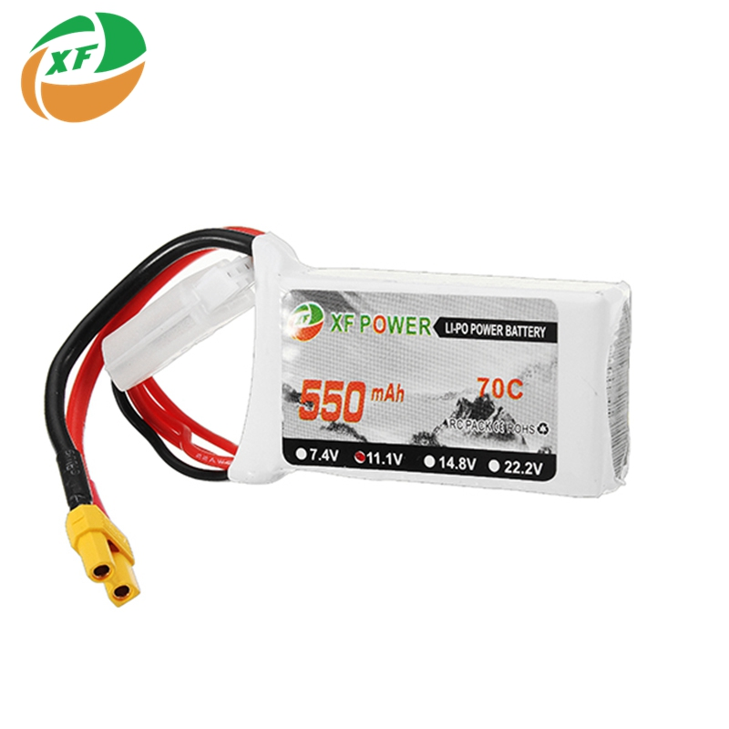 купить 2017 Latest Batch XF Power 11.1V 550mAh 850mAh 3S 70C Lipo Battery XT30 Plug Connector For RC Toys Quadcopter Drones Helicopter онлайн