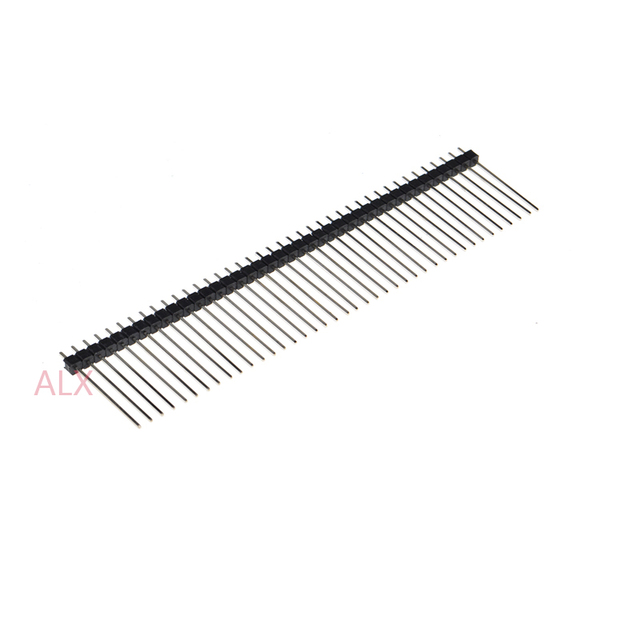5pcs 1x40 Pin Single Row Male 2 54mm Pitch 25mm Long Pin Header