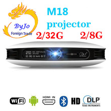 ByJoTeCH M18 projector 3D Android WIFI Home Theater Cinema Proyector 4K Beamer AirPlay Miracast Built-in battery Also called D08 стоимость