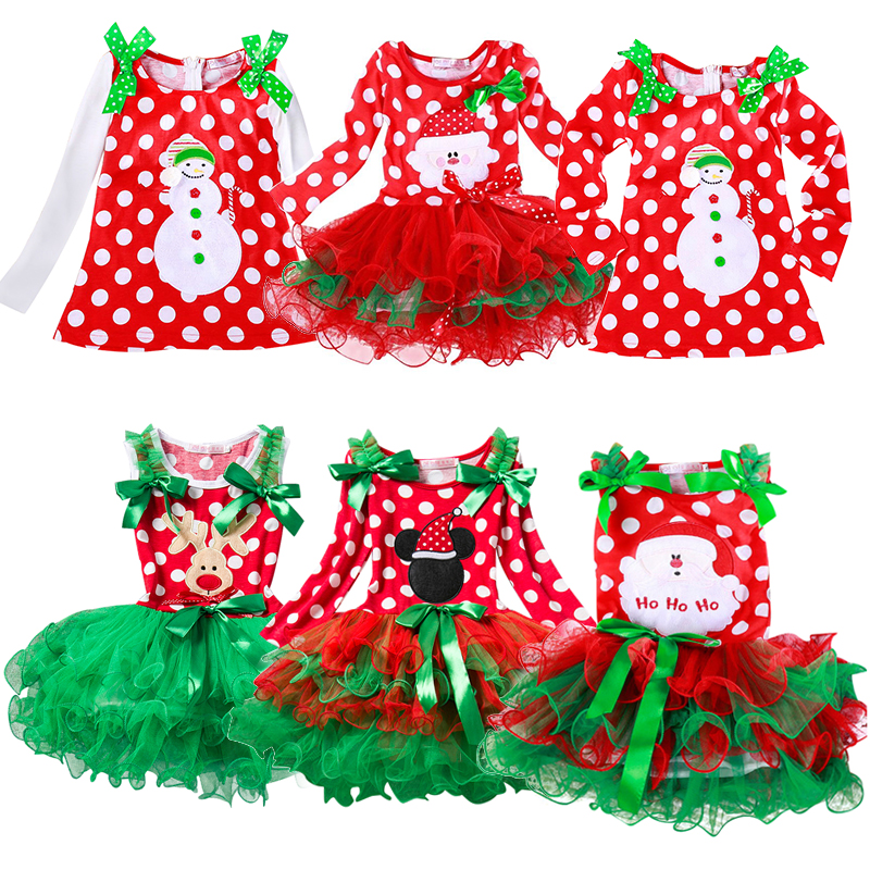 Kid Christmas Dress For Girl Santa Cartoon Tutu Dresses Children Girl New Year Carnival Party Outfits Fancy Princess Vestidos girls christmas xmas dresses kids girls princess party carnival tutu dress baby girl red new year fancy party dress up outfits